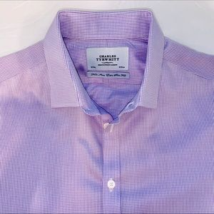 Charles Tyrwhitt Lilac & White, dress shirt.